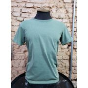 CAMISETA VERDE ESTONADA GOLA CARECA LISA