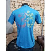 CAMISETA AZUL MELANGE - ON UNIVERSO