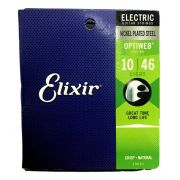 Encordoamento Guitarra Elixir 010 Optiweb 12092