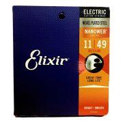 Encordoamento Guitarra Elixir 011 Nanoweb 3217
