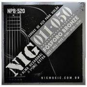 Encordoamento Violão Aço Nig 011 NPB520 Fosforo Bronze