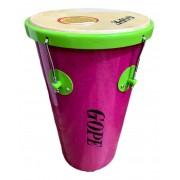 Rebolo Gope Conico 11 pol 55 cm Rosa com aro Verde Limao