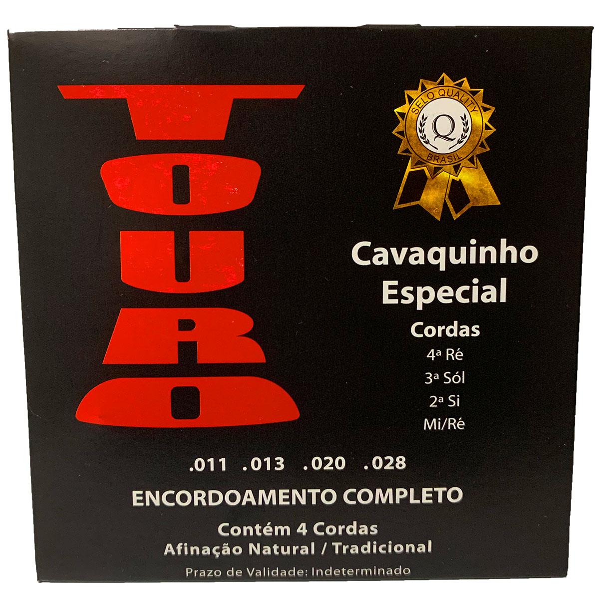 5 Encordoamentos Para Cavaquinho Touro Especial 011