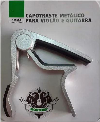 Capotraste Metalico Monterey Violão Aço / Guitarra Prata