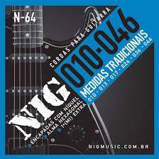 Encordoamento Guitarra Nig 010 N64