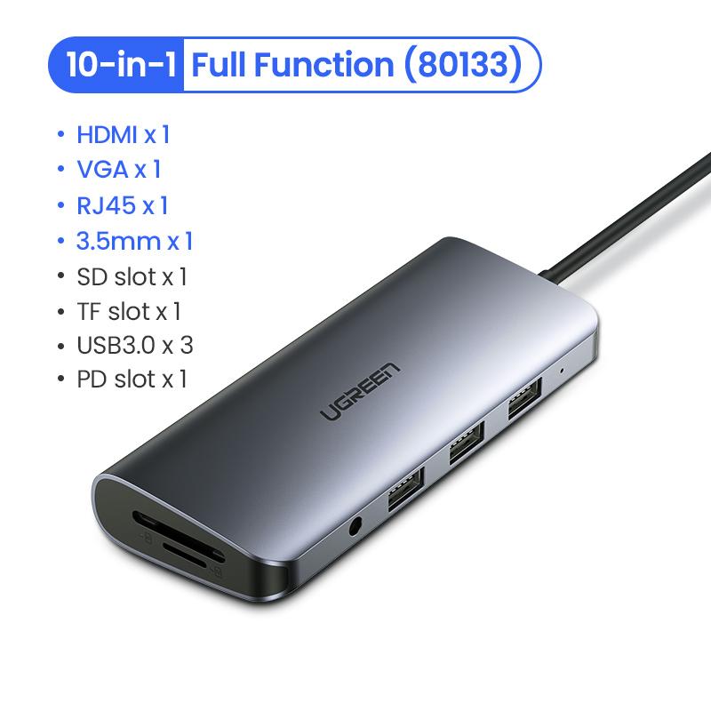 Dockstation Usb Tipo C Hdmi 4k Hub Apple 10em1