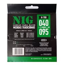 Encordoamento Baixo Nig 040 N700 - 4 Cordas