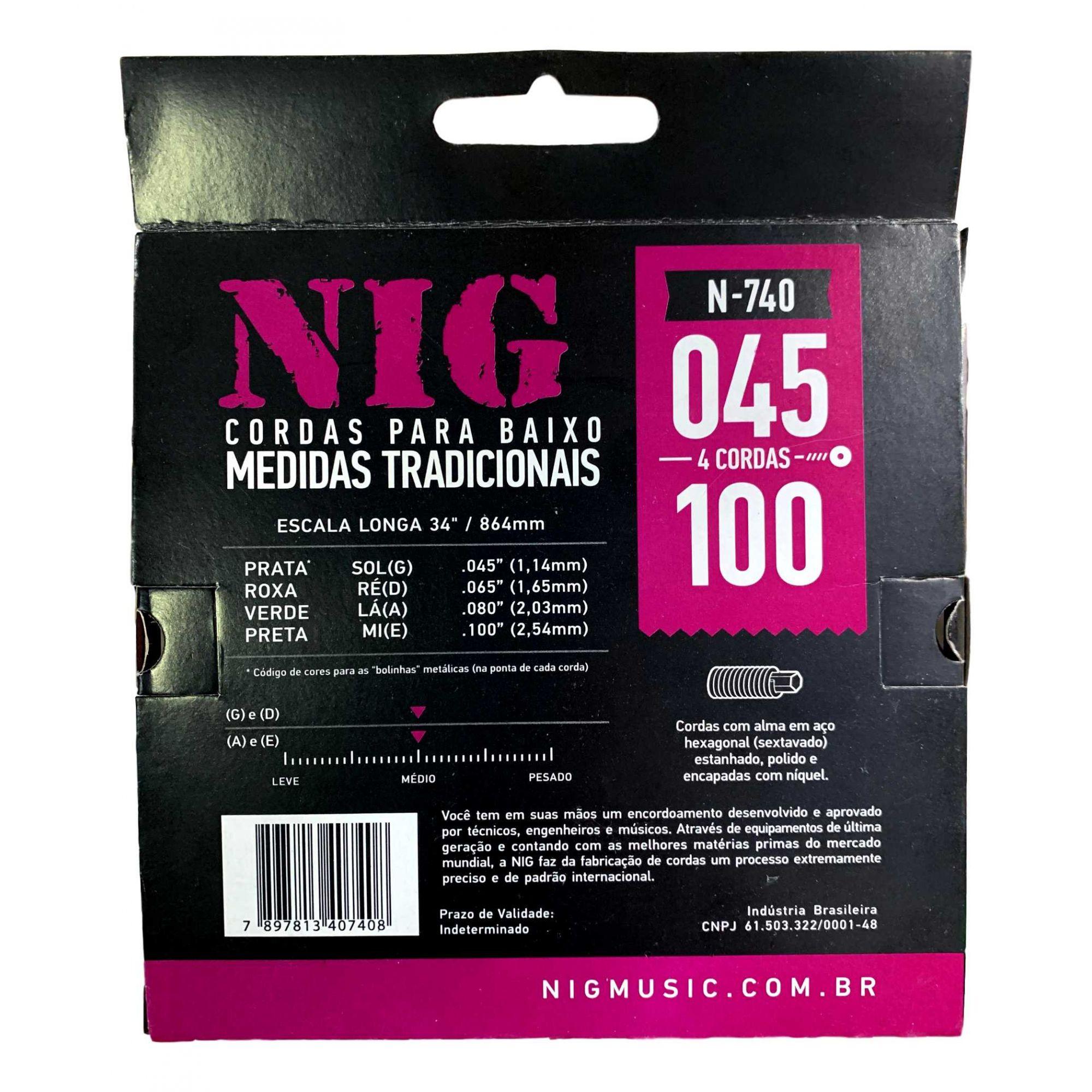 Encordoamento Baixo Nig 045 N740 - 4 Cordas