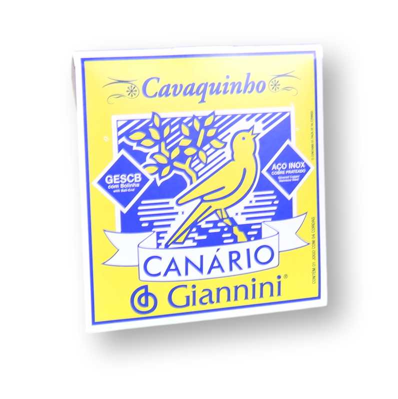 Encordoamento Cavaquinho Giannini Canário Inox Média Gescb