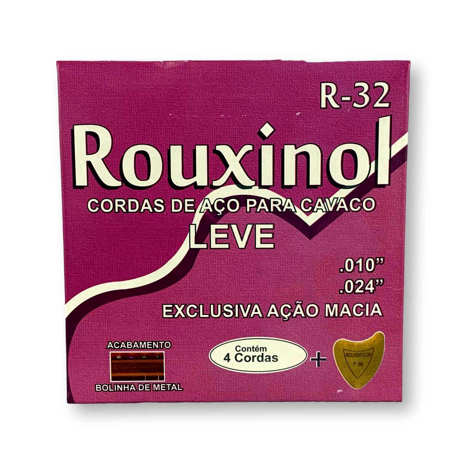 Encordoamento Cavaquinho Rouxinol R32 Tensão Leve Com Bolinha