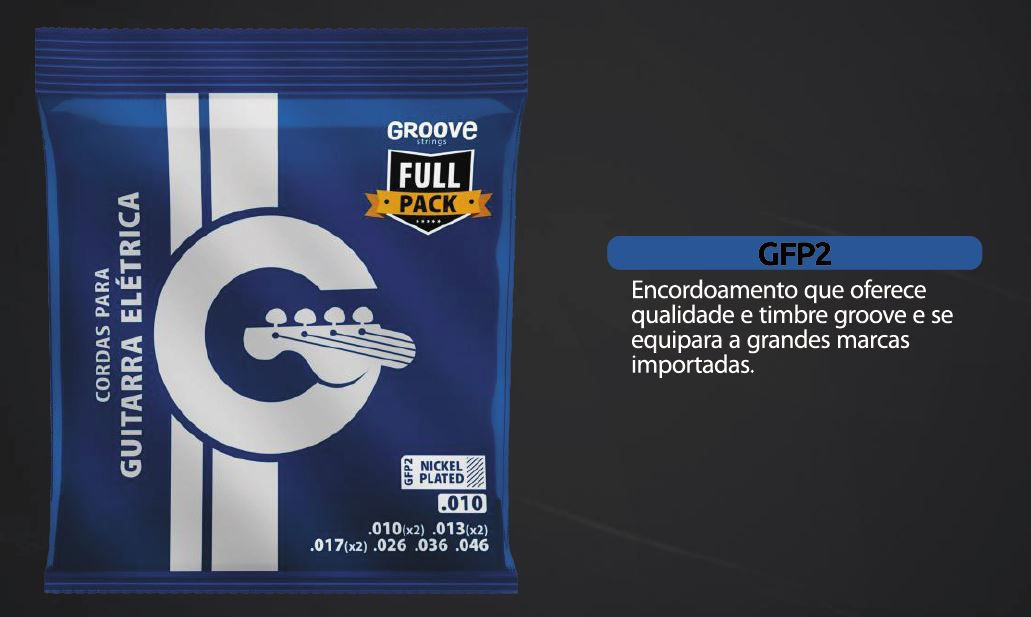Encordoamento Guitarra Groove  010 GFP2