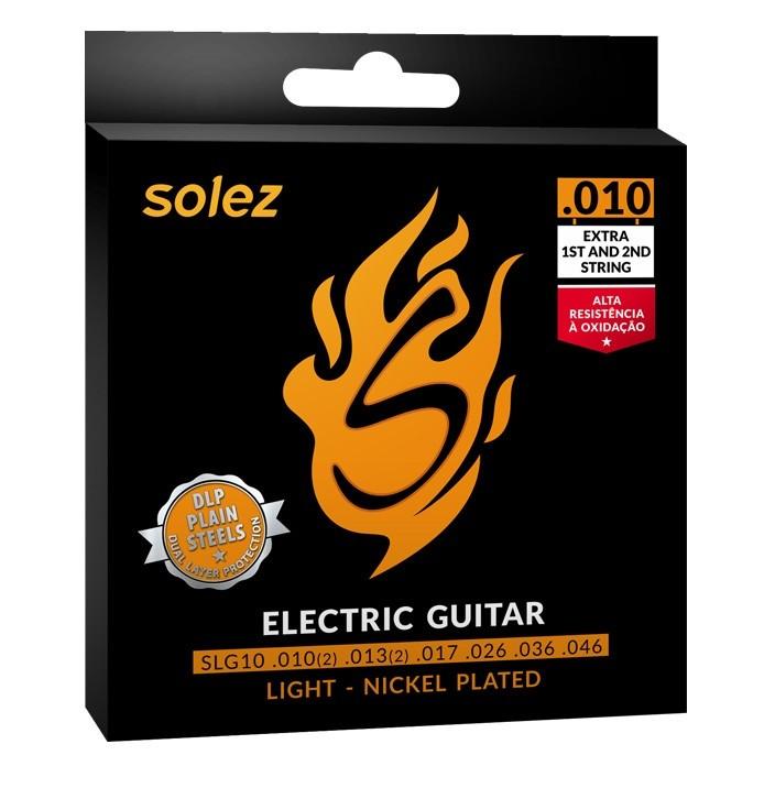 Encordoamento Guitarra Solez 010 SLG10