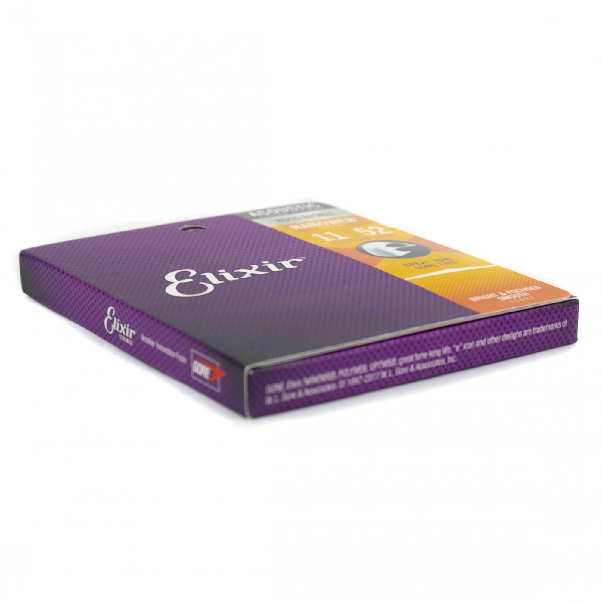 Encordoamento Violão Aço Elixir 011 Nanoweb 11027