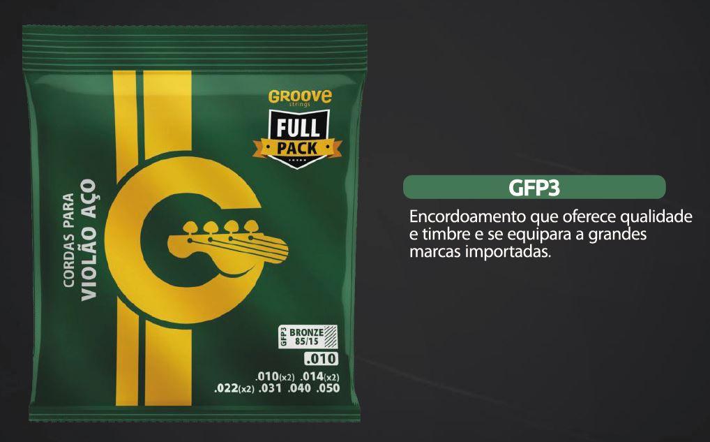 Encordoamento Violão Aço Groove 010 GFP3