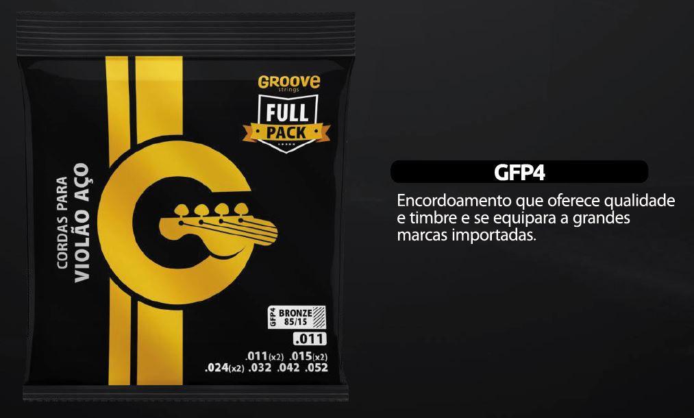 Encordoamento Violão Aço Groove 011 GFP4