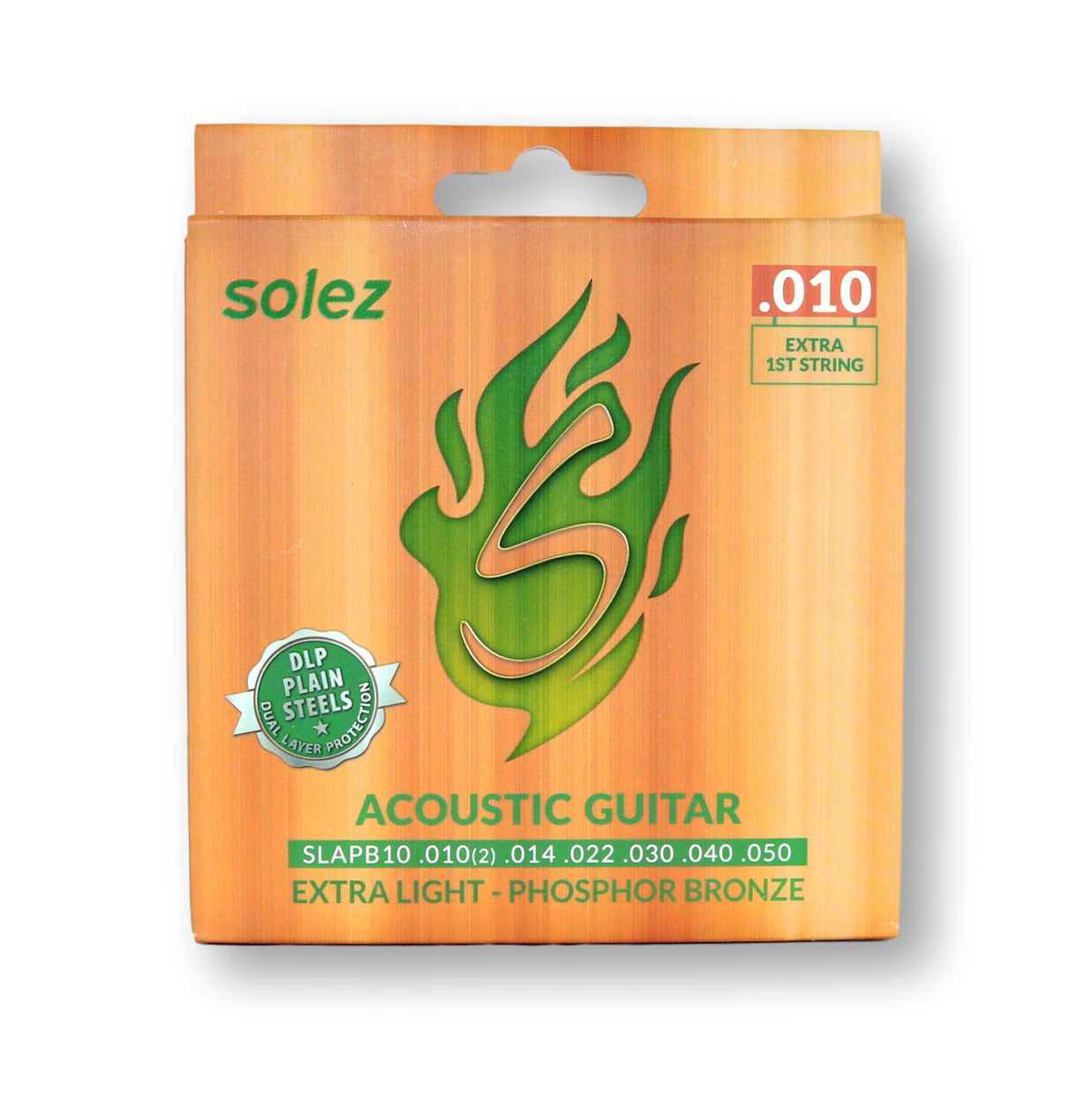 Encordoamento Violão Aço Solez 010 SLAPB10 Fosforo Bronze