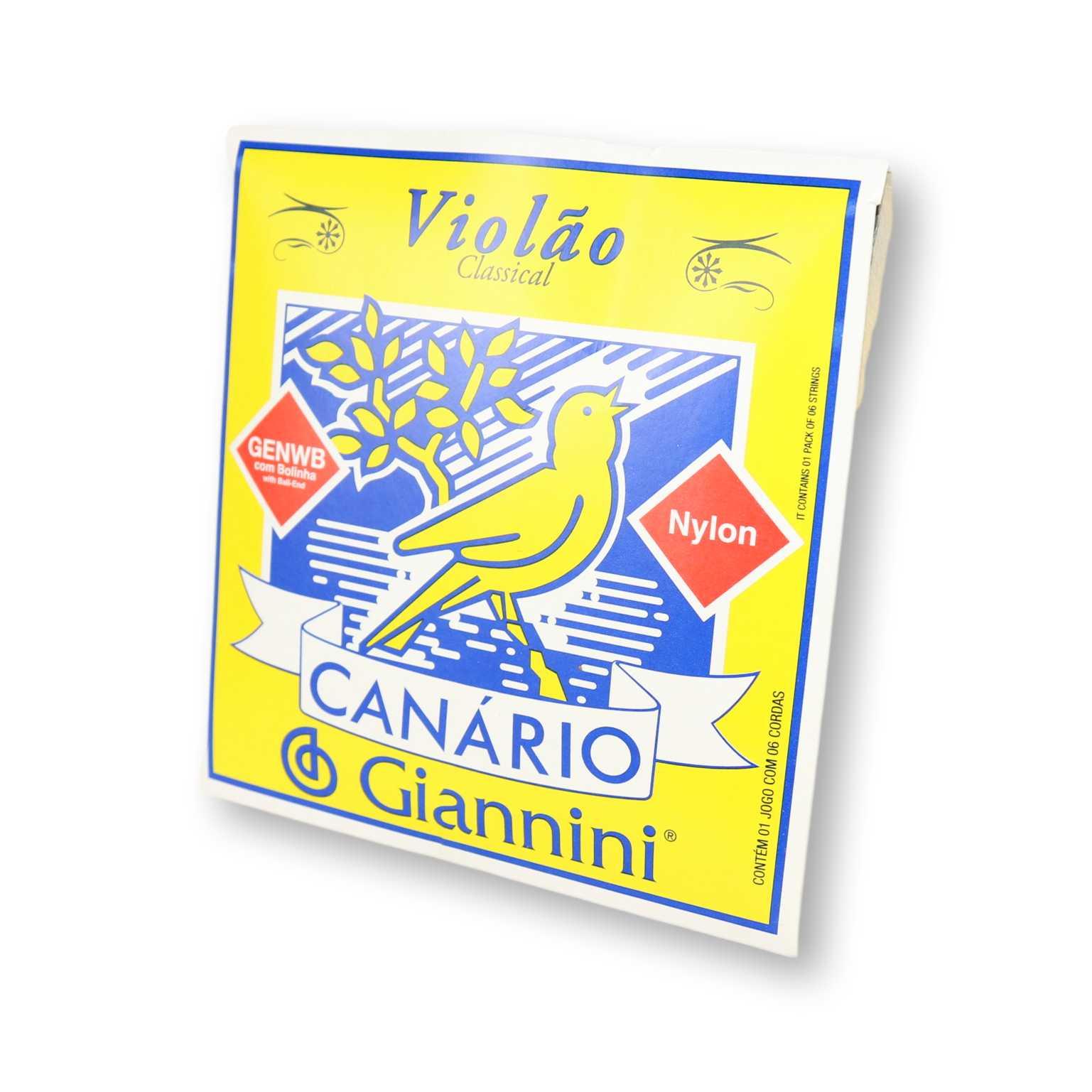 Encordoamento Violão Nylon Canário Tensão Média Cristal Com Bolinha Genwb