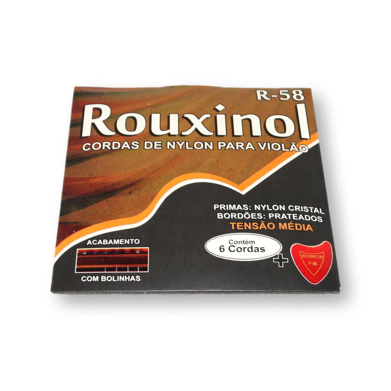 Encordoamento Violão Nylon Rouxinol R58 Tensão Media com Bolinha