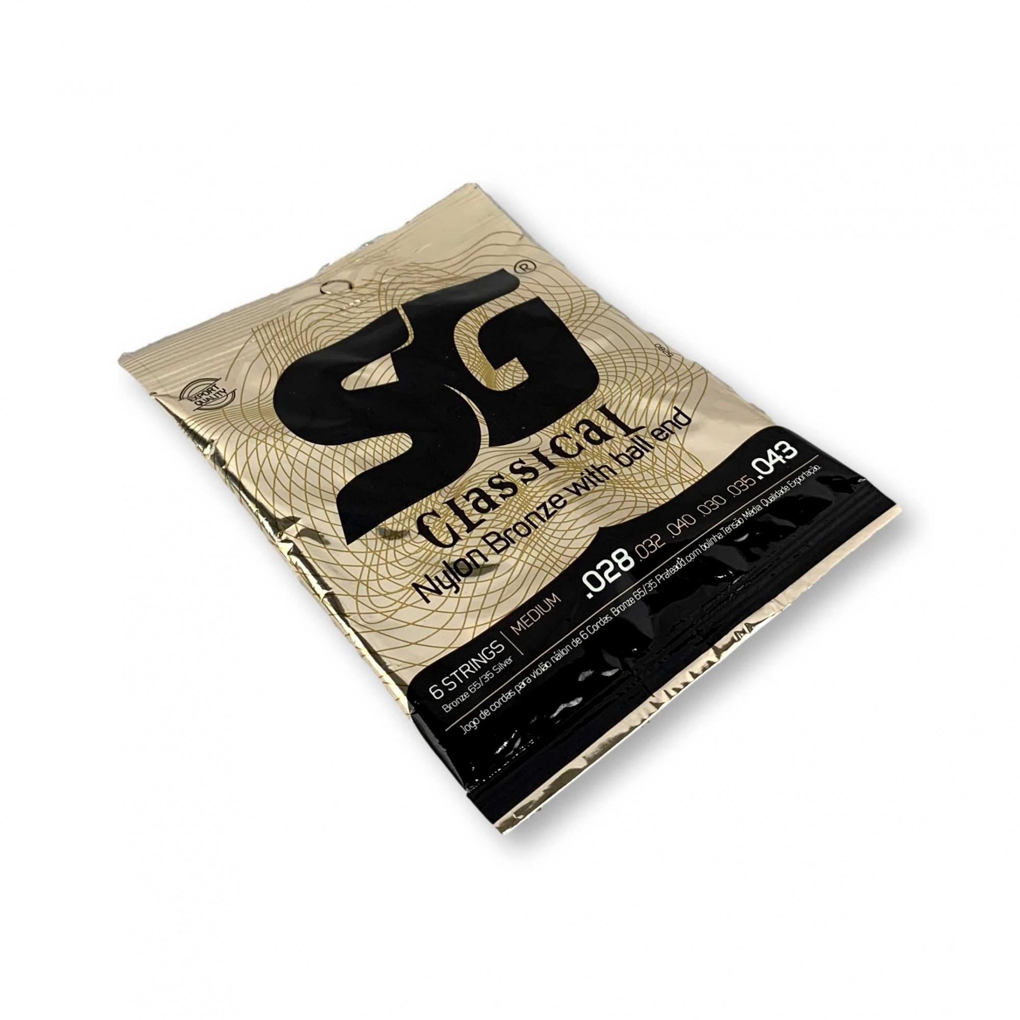 Encordoamento Violão Nylon SG Tensão Media 5280 Kit c/ 5