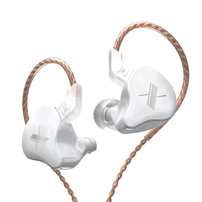 Fone de ouvido KZ EDX Branco + Case