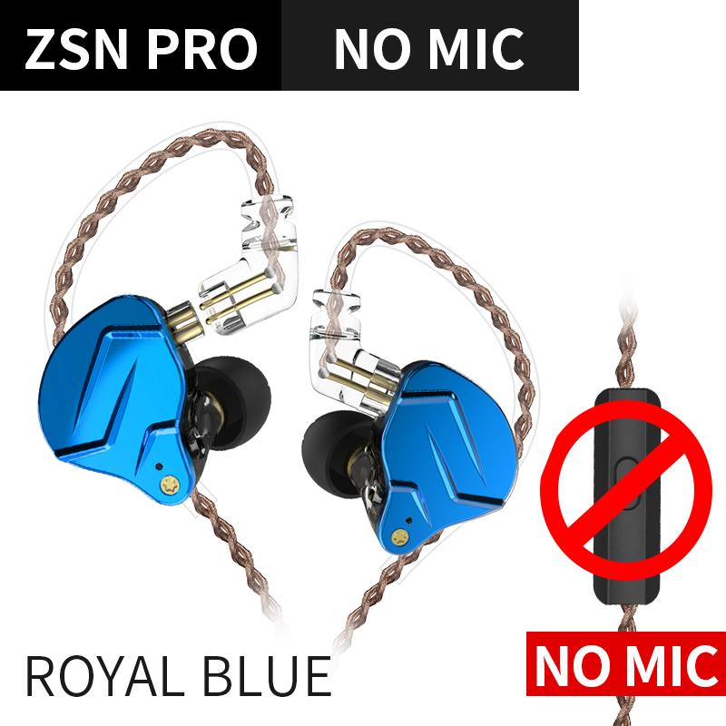 Fone de ouvido KZ Zsn Pro Royal Azul