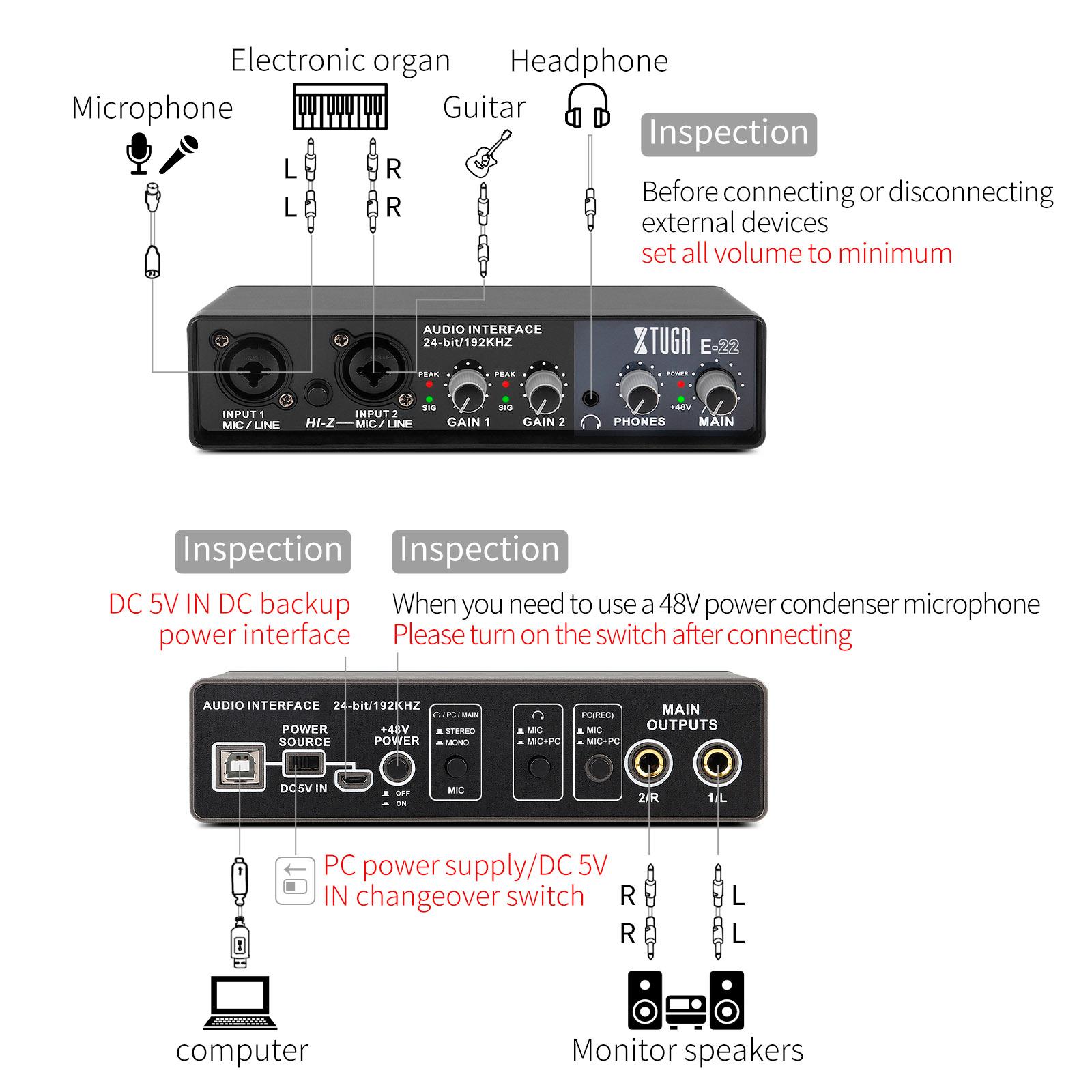 Interface de Audio XTuga e22