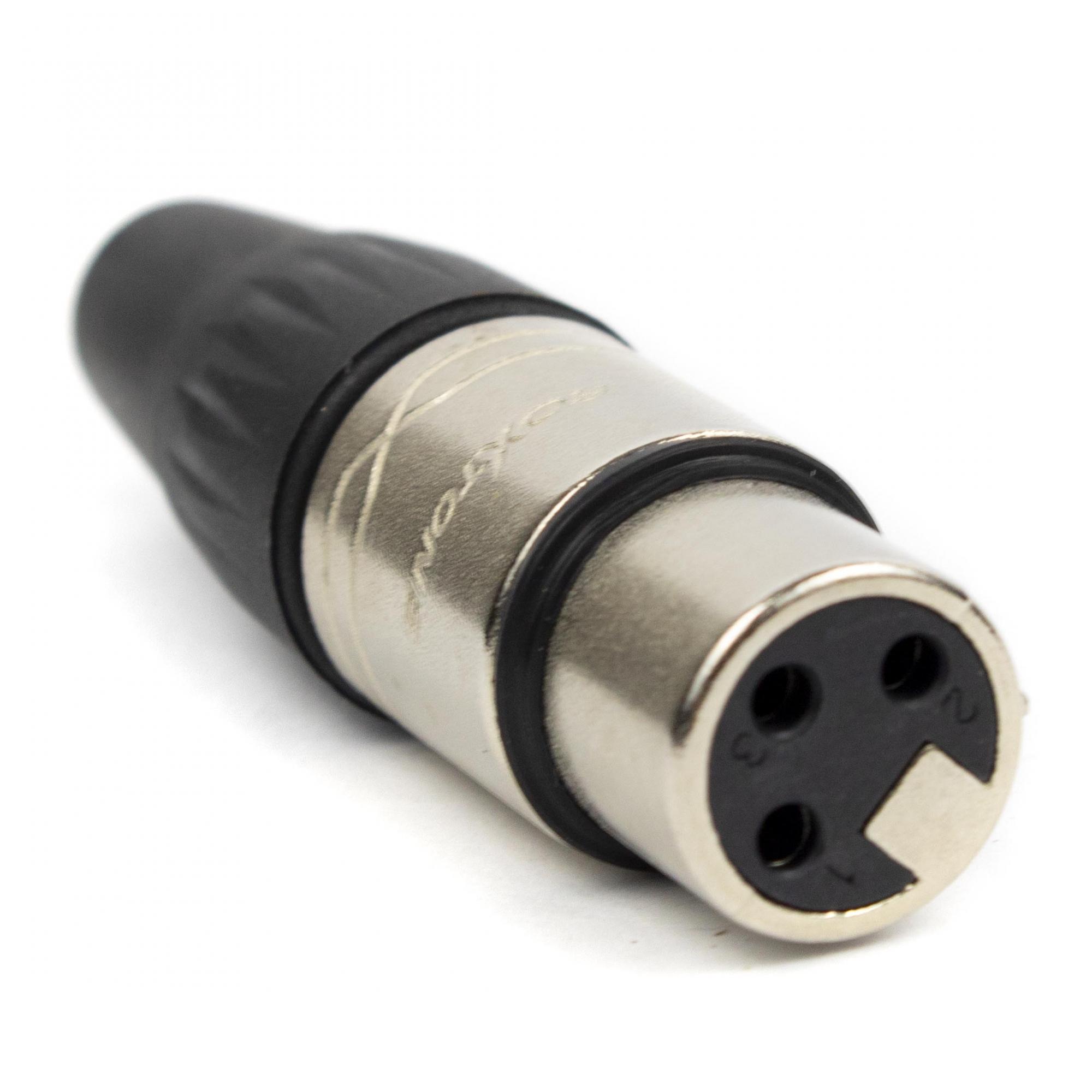 Kit 10 Conectores XLR Macho/Femea Roxtone