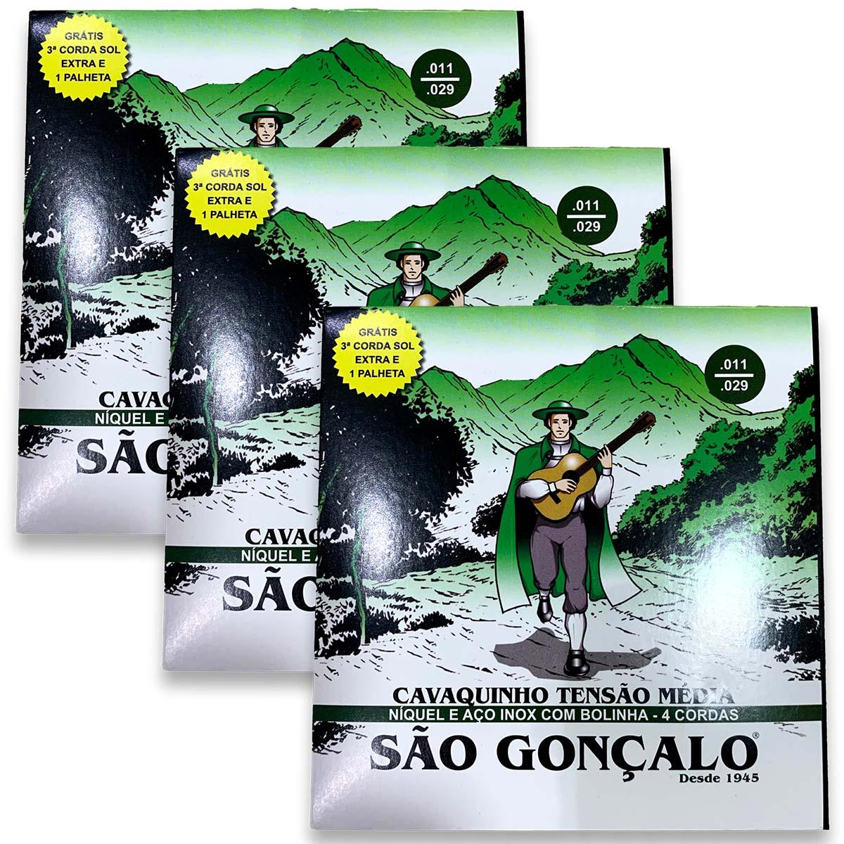 Kit 3 Cordas De Cavaco , Encordoamento Cavaco Sao Gonçalo