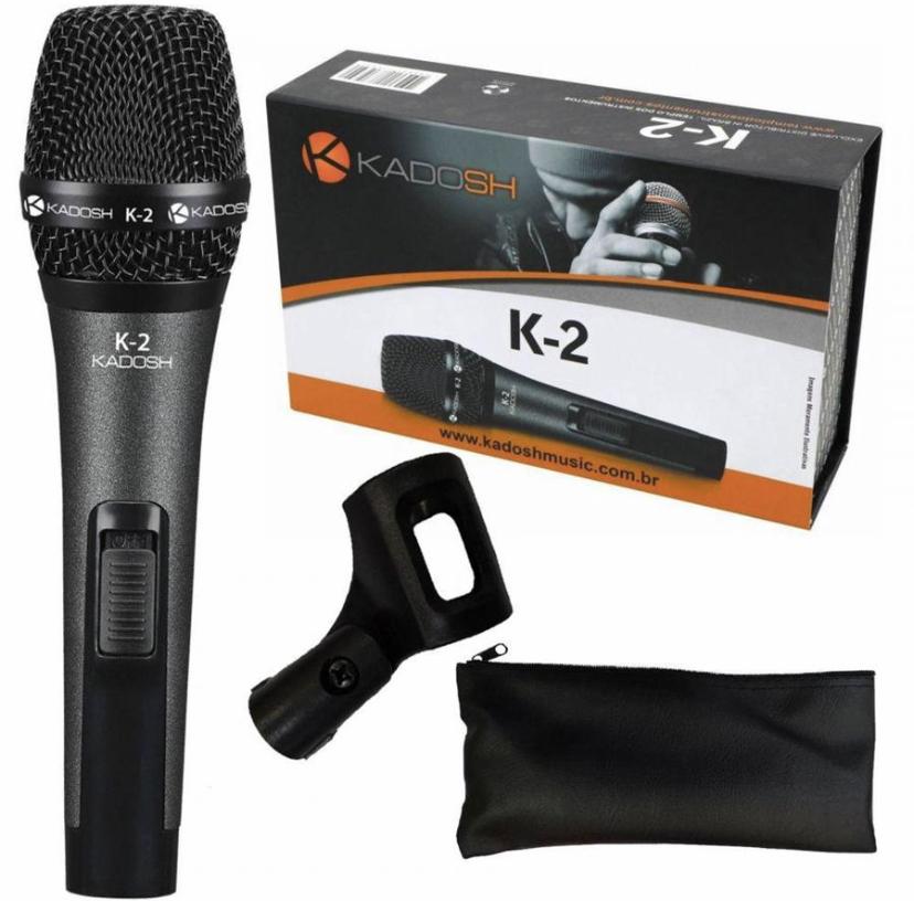 Microfone Com Fio Kadosh K2 Com Bag Cachimbo