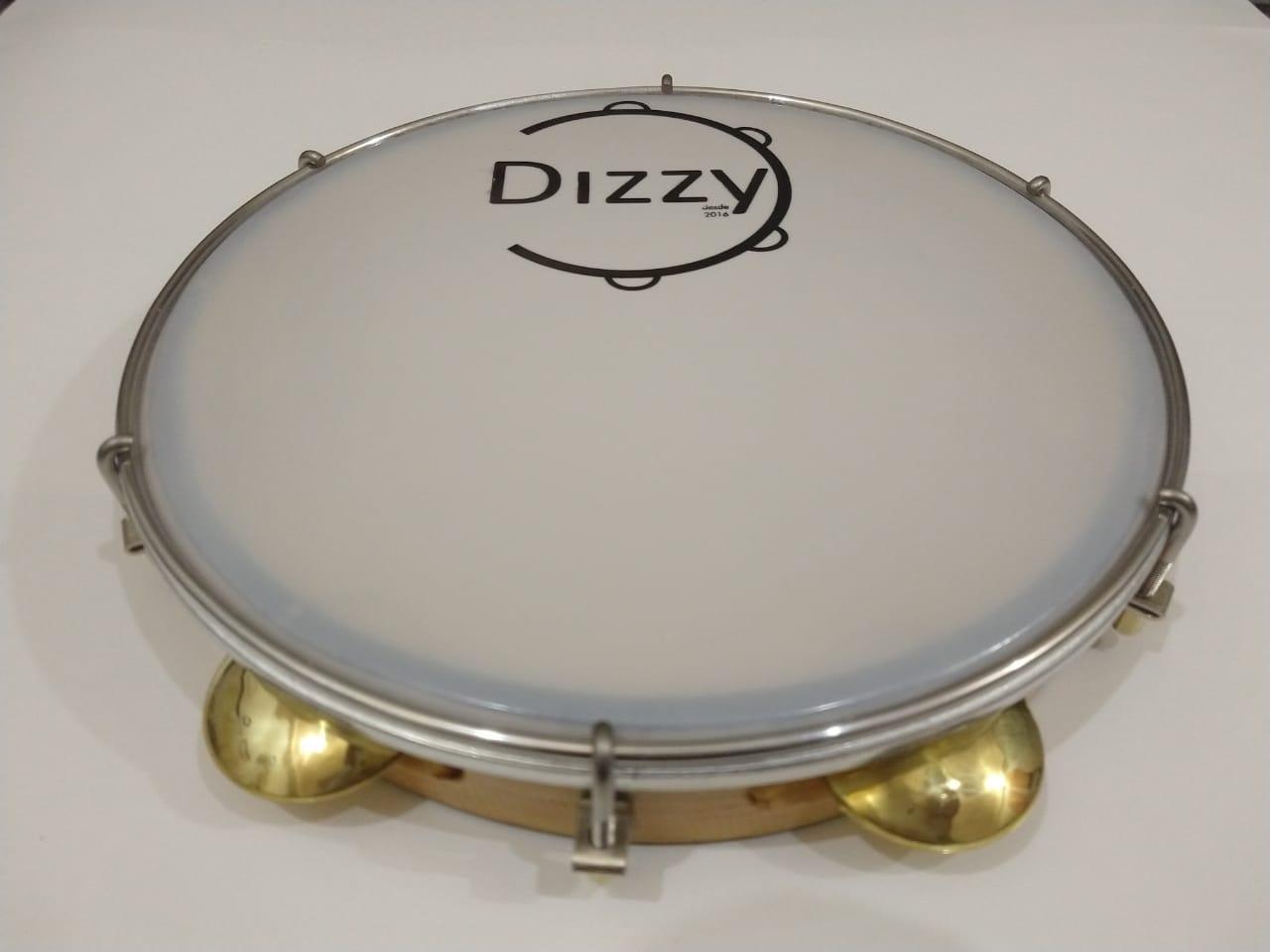 Pandeiro Dizzy 10 Pol Super Leve Marrom Claro