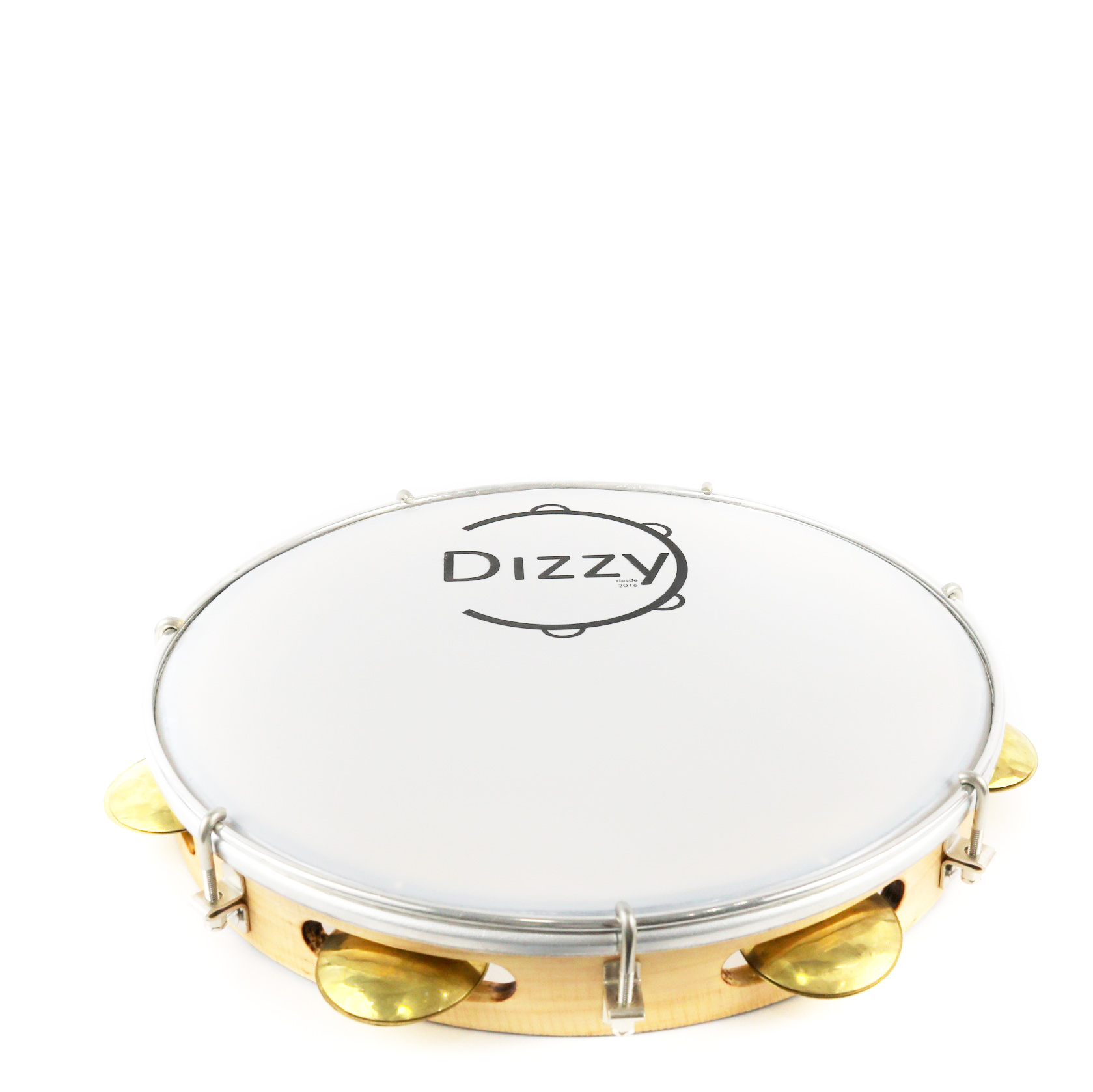 Pandeiro Dizzy 11 Pol Super Leve Marrom Claro