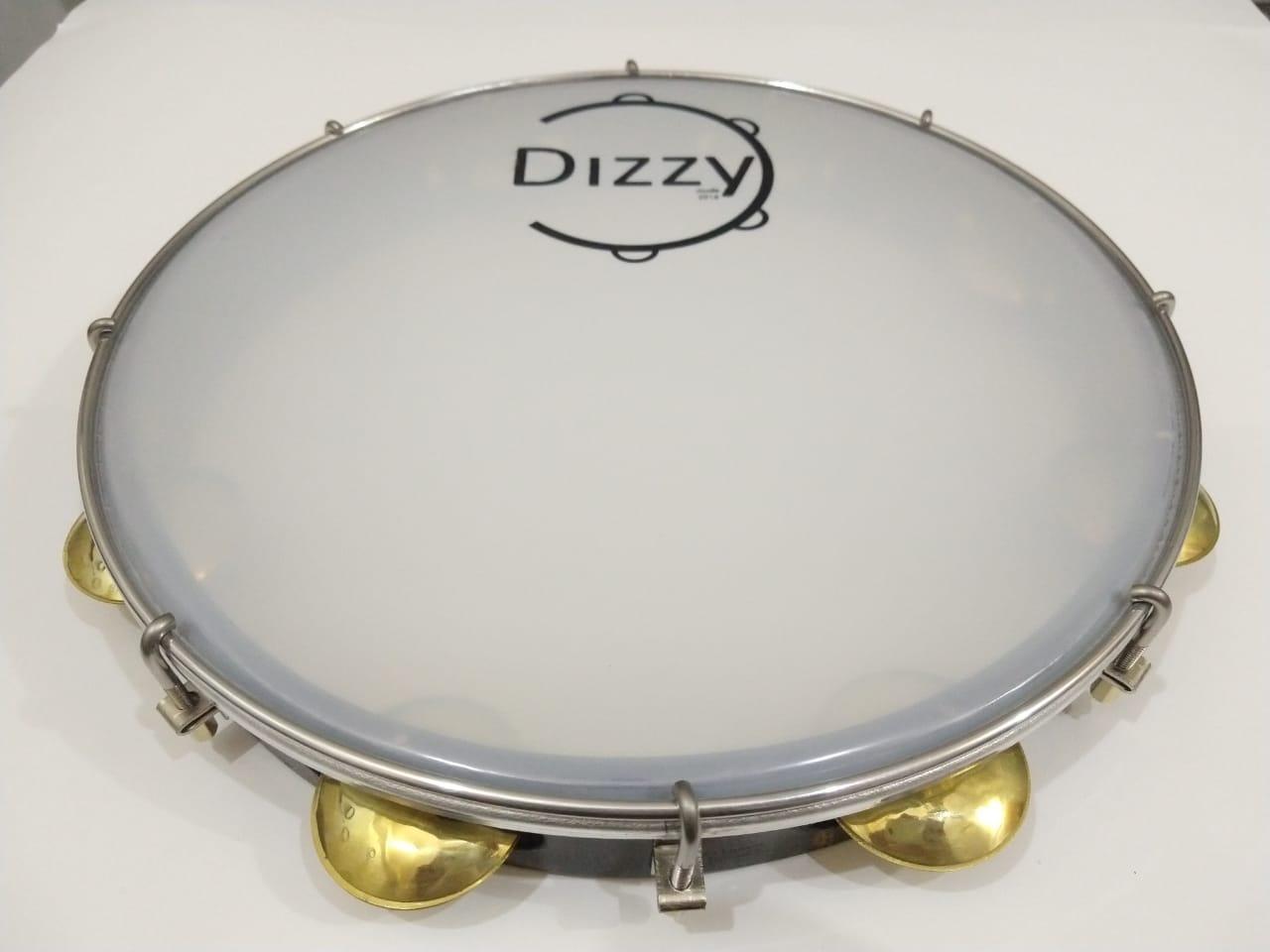 Pandeiro Dizzy 12 Pol Super Leve Marrom Escuro