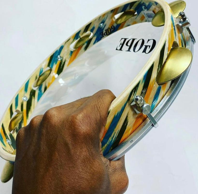 Pandeiro Gope 12 pol Super Leve Brasil Pele Cristal