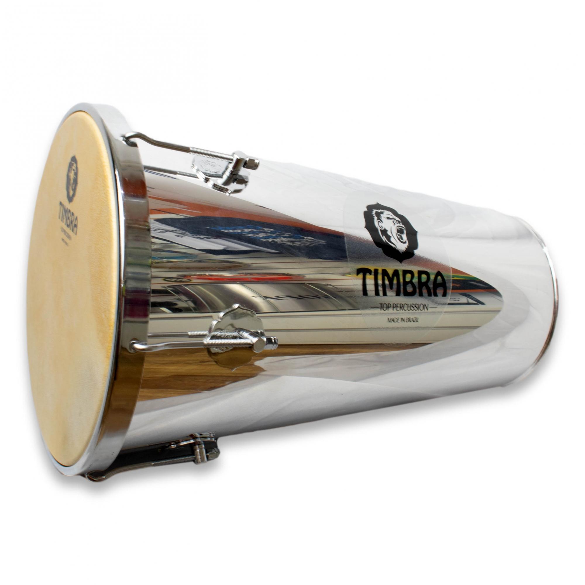 Rebolo Tantan Timbra 12 polegadas 50 cm Aluminio c/ Aro Cromado