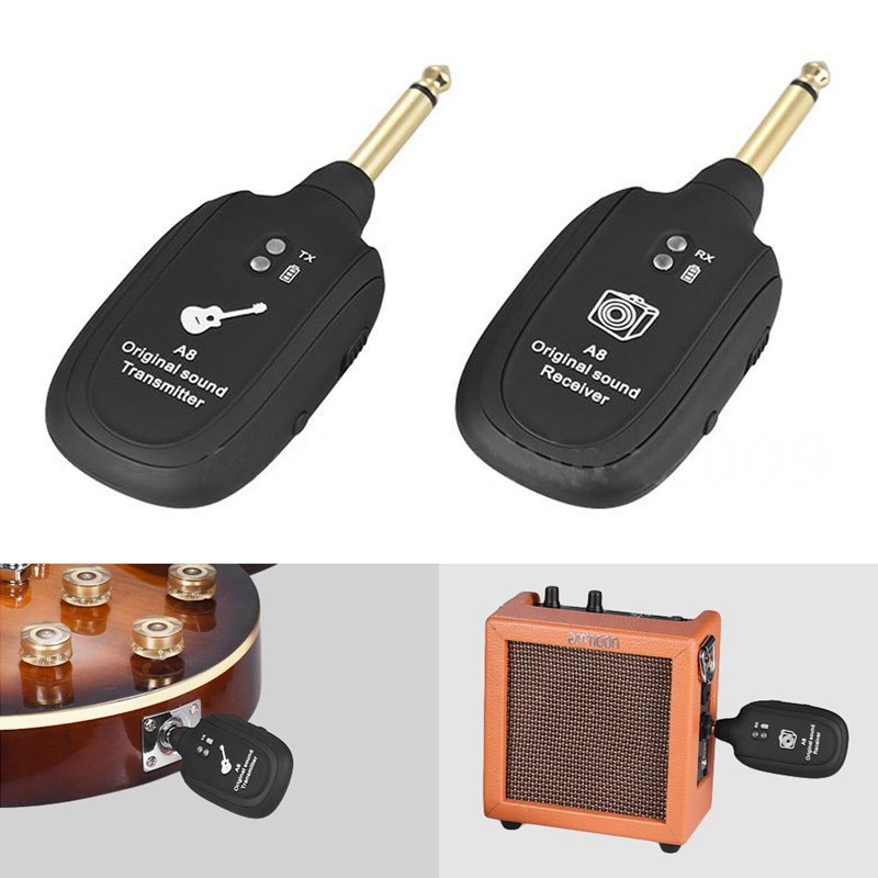 Sistema  Sem Fio Transmissor Receptor Guitarra