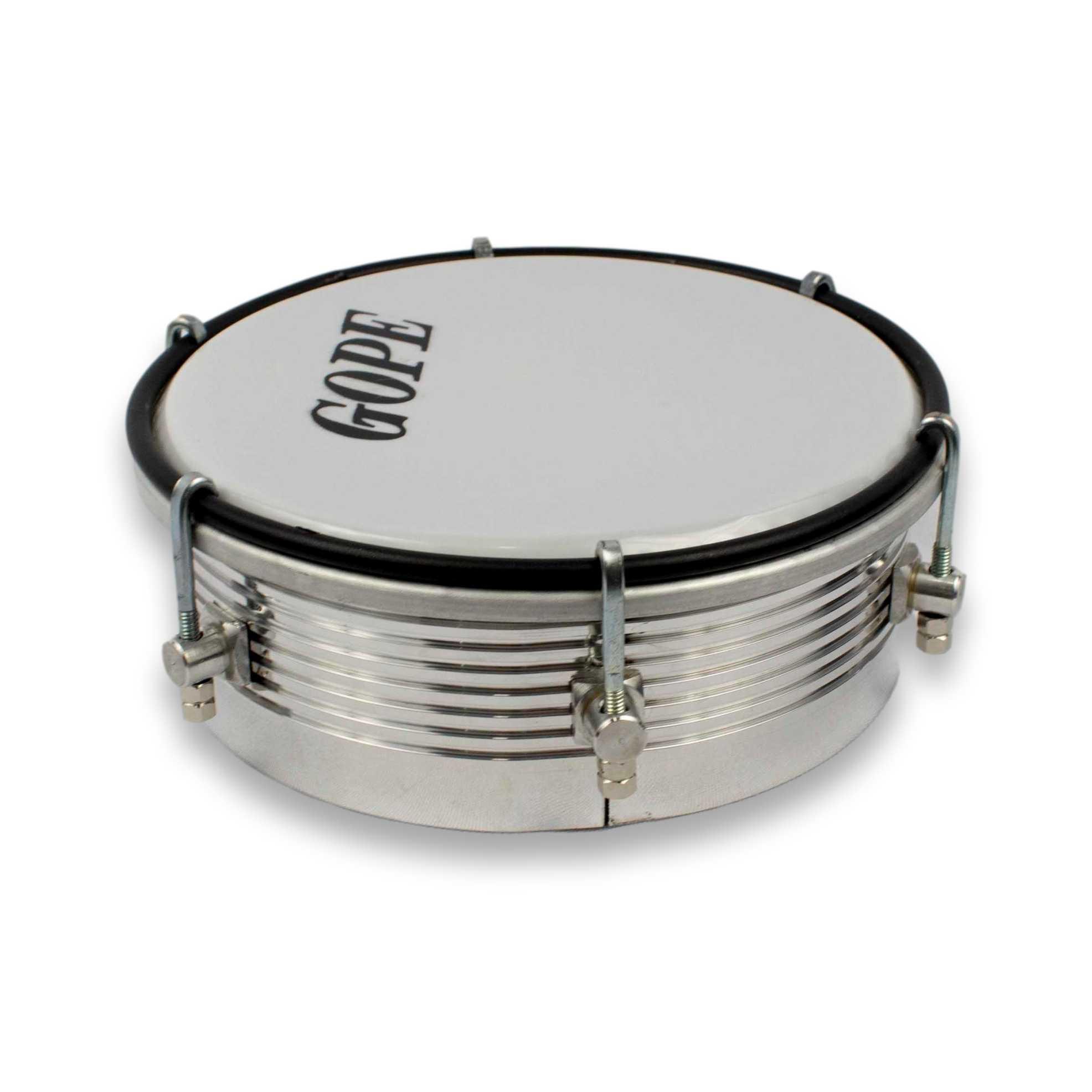 Tamborim Gope 6 pol Aluminio Caixa Alta