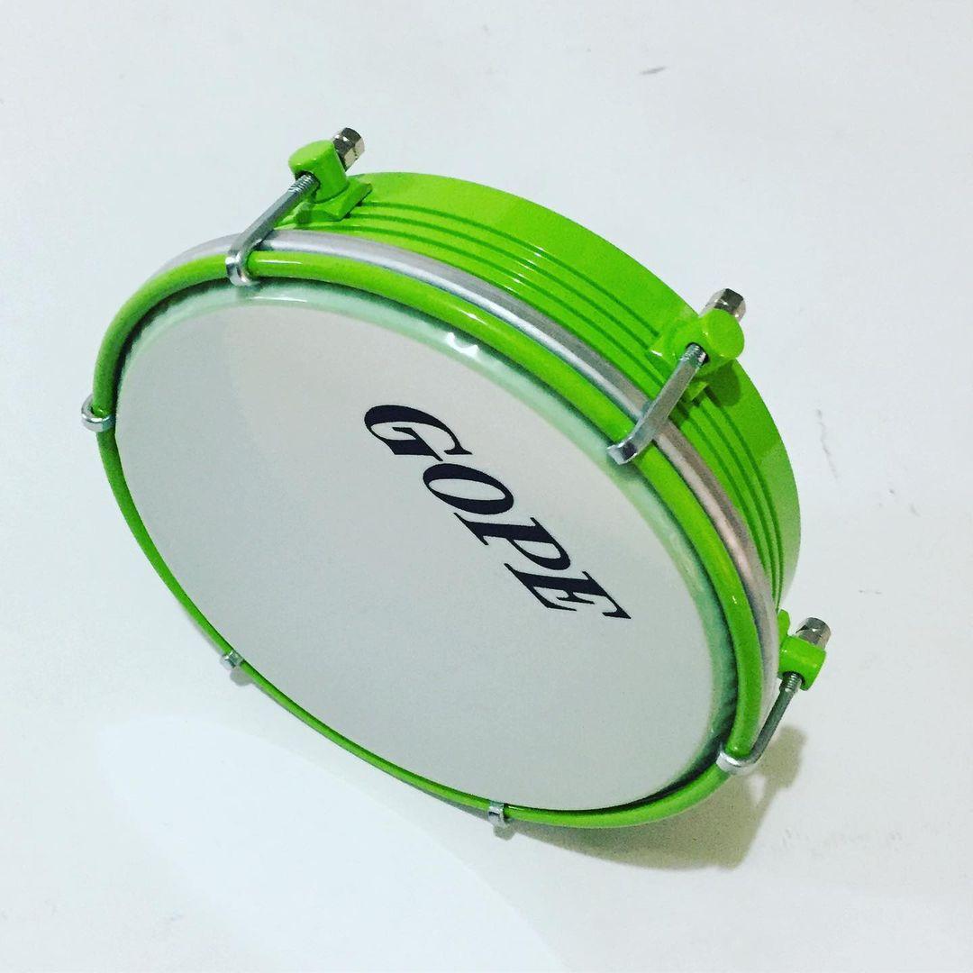 Tamborim Gope 6 pol Verde Limao