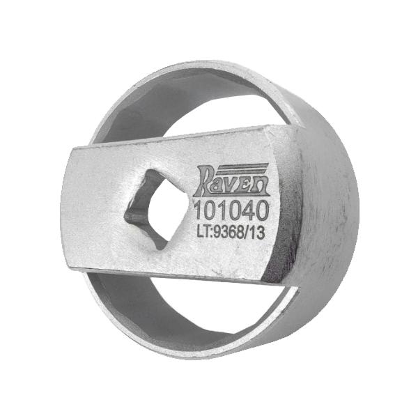 """Chave de 64mm para Filtro de Óleo Blindado - Encaixe de 1/2"""" - RAVEN 101040"""