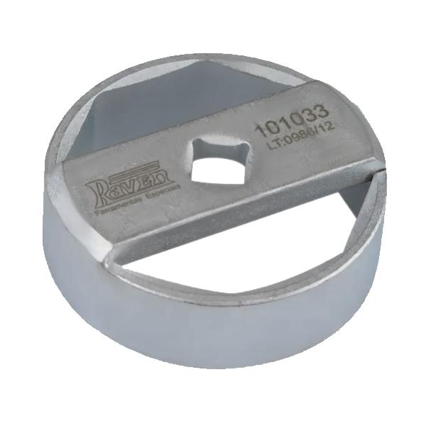 """Chave Oitavada de 74mm Para Filtro de Óleo - Encaixe de 1/2"""" - RAVEN 101033"""