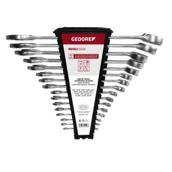 Conjunto de Chaves Combinadas 16peças - GEDORE 002.654  1B-16P