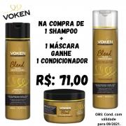 Compre 1 Shampoo + 1 Máscara Blend Óleos Voken - GANHE 1 CONDICIONADOR