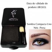 Pozzi - Sombra Compacta Uno N° 01- Preta - Válidade 08/2021