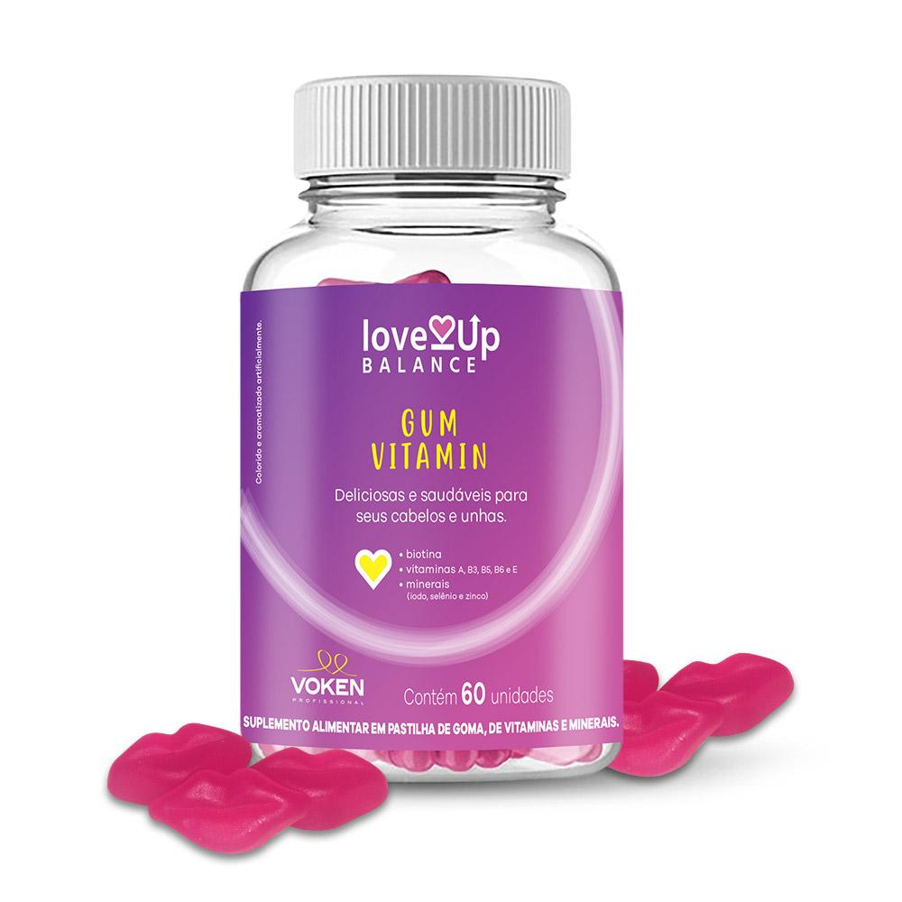 Love UP Gum Vitamin (Gomas de Vitaminas e Minerais ) - 1 Pote com 60 unid. Compre e Ganhe um Brinde!!