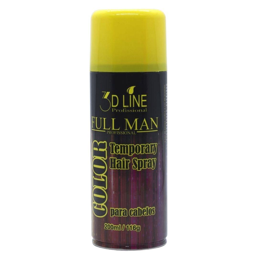 3D - Full Man Spray Color Amarelo 200ml - VÁLIDADE 01/22
