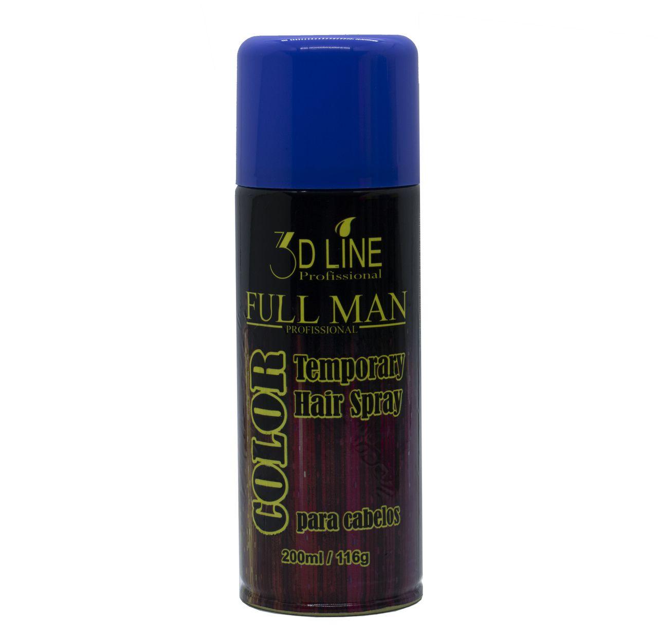 3D - Full Man Spray Color Azul 200ml