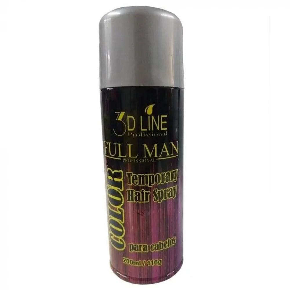 3D - Full Man Spray Color Cinza/Prata 200ml