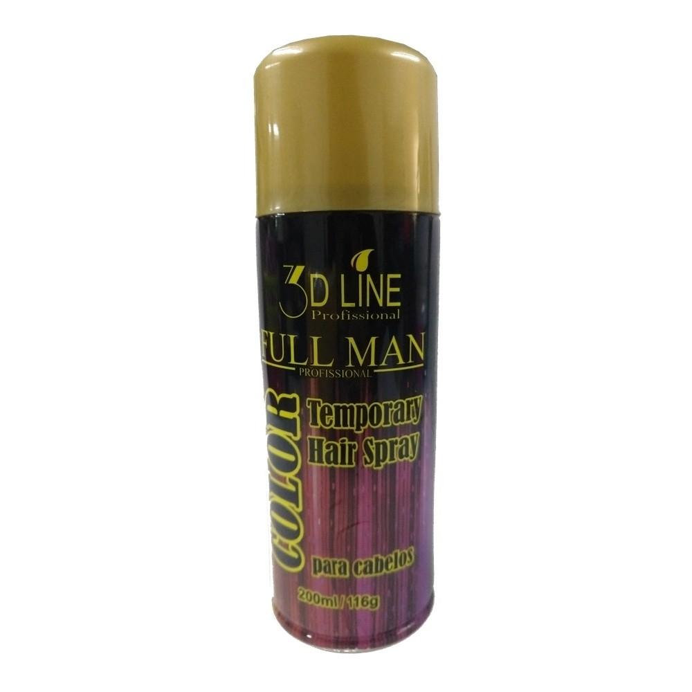 3D - Full Man Spray Color Dourado 200ml