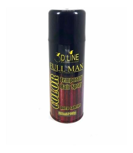3D - Full Man Spray Color Preto 200ml