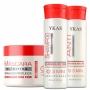 Kit Ykas 3 Minutos Shampoo e Máscara Reconstrução 300ml + Máscara Nutritiva 500g