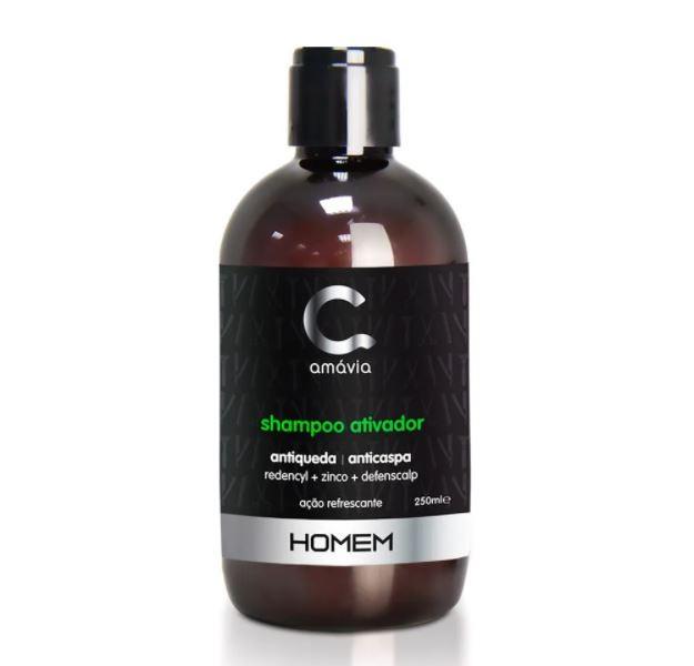 Shampoo Ativador Antiqueda & Anticaspa Amávia Homem 250ml